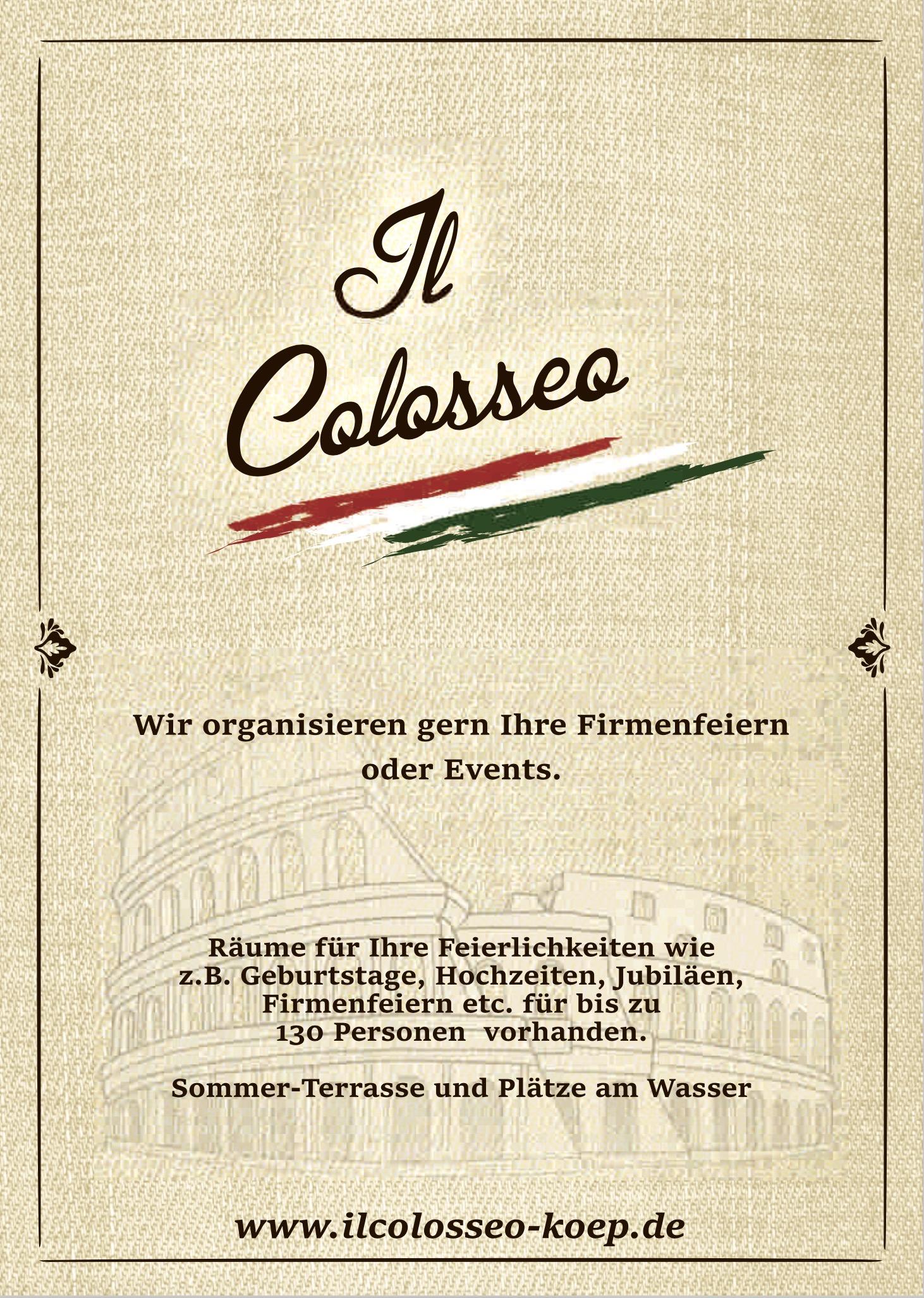Il Colosseo im Hotel am Schloß Treptow Köpenick 12555 Berlin Grünauer Str Ristorante und Pizzeria Italienisches Restaurant italienisch küche Pizza 115